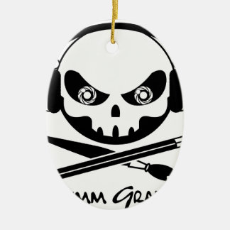 Grimm Graphics Ceramic Oval Ornament