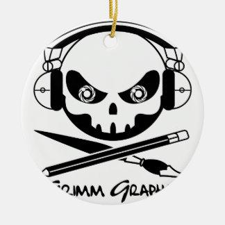 Grimm Graphics Round Ceramic Ornament