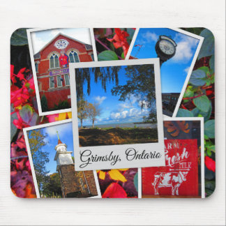 Grimsby Ontario Collage Mouse Pad