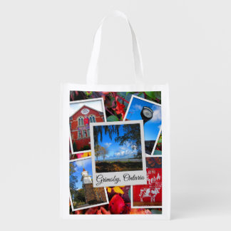 Grimsby Ontario Collage Reusable Grocery Bag