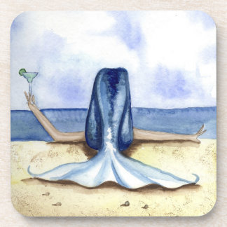 Grimshaw Beach Margarita Mermaid Coaster Set