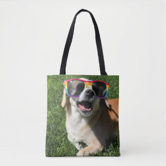 Grin and Dog It! Tote Bag