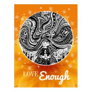 Grincheux Angel Wishes | Orange Postcard