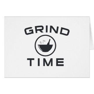 GRIND TIME CARD