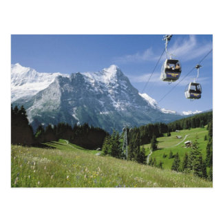Grindelwald Cable cars Postcard