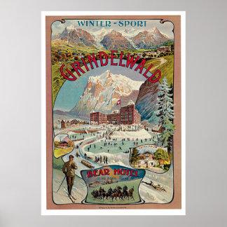Grindelwald Winter-Sport Vintage  Poster