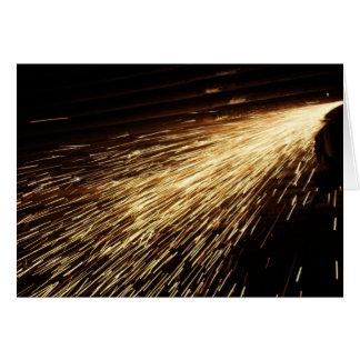 Grinding Sparks Card