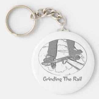 Grinding The Rail Basic Round Button Keychain