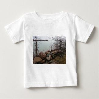 Grindstone City Autumn Fall Shoreline Sandstone Baby T-Shirt