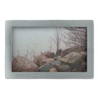 Grindstone City Autumn Fall Shoreline Sandstone Belt Buckles