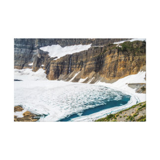 Grinnel glacier with snow and ice all around canvas print