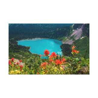 Grinnel lake in the Glacier National park, Montana Canvas Print