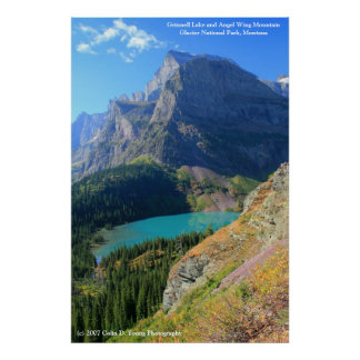 Grinnell Lake and Angel Wing Mountain Poster