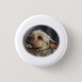 Grinning Border Terrier Cross 1 Inch Round Button