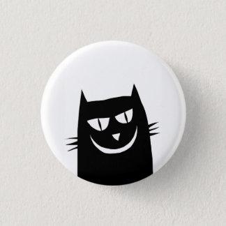 grinning cat 1 inch round button