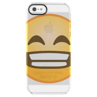 Grinning Emoji Clear iPhone SE/5/5s Case
