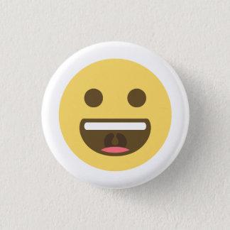 Grinning Face Emoji 1 Inch Round Button