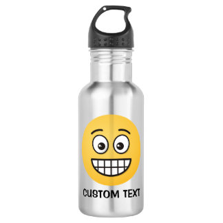 Grinning Face with Open Eyes 532 Ml Water Bottle