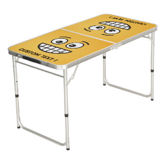 Grinning Face with Open Eyes Beer Pong Table