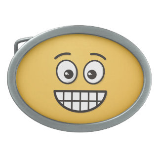 Grinning Face with Open Eyes Belt Buckle