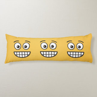 Grinning Face with Open Eyes Body Pillow