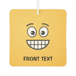 Grinning Face with Open Eyes Car Air Freshener
