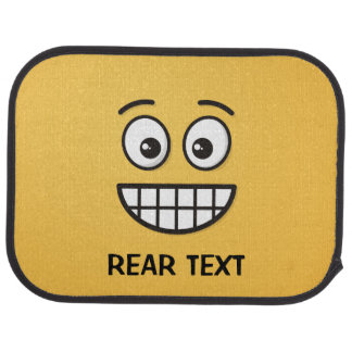 Grinning Face with Open Eyes Car Mat