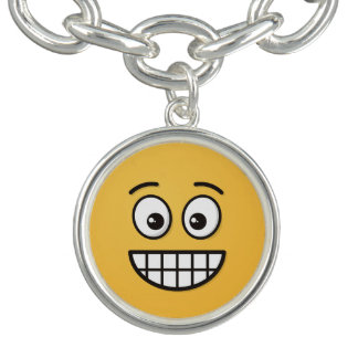 Grinning Face with Open Eyes Charm Bracelet