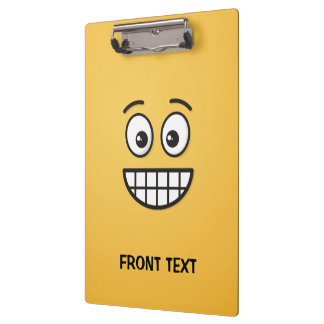 Grinning Face with Open Eyes Clipboard