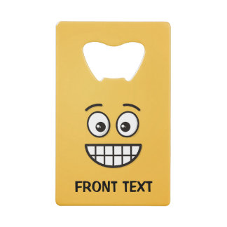 Grinning Face with Open Eyes Credit Card Bottle Opener