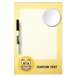 Grinning Face with Open Eyes Dry Erase Board With Mirror