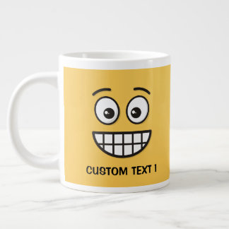 Grinning Face with Open Eyes Large Coffee Mug