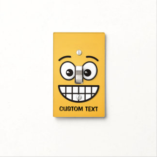 Grinning Face with Open Eyes Light Switch Cover