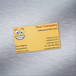 Grinning Face with Open Eyes Magnetic Business Card