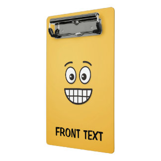 Grinning Face with Open Eyes Mini Clipboard