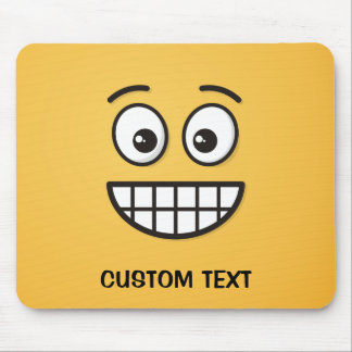 Grinning Face with Open Eyes Mouse Pad