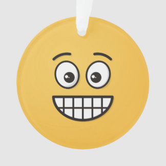 Grinning Face with Open Eyes Ornament