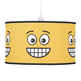 Grinning Face with Open Eyes Pendant Lamp