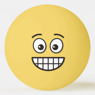 Grinning Face with Open Eyes Ping Pong Ball