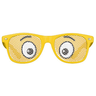 Grinning Face with Open Eyes Retro Sunglasses