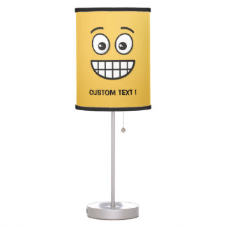 Grinning Face with Open Eyes Table Lamp