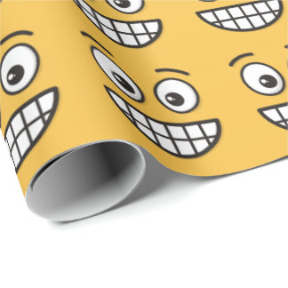Grinning Face with Open Eyes Wrapping Paper