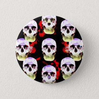 Grinning Halloween skulls 2 Inch Round Button