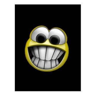 Grinning Happy Smiley Face Postcard