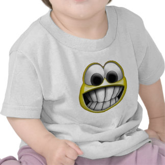 Grinning Happy Smiley Face T Shirts