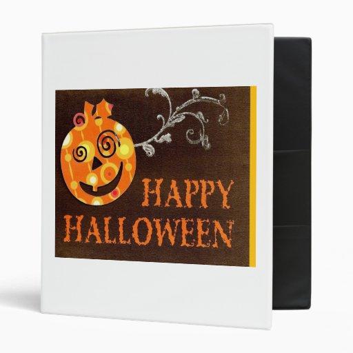 Grinning Pumpkin Halloween Binder