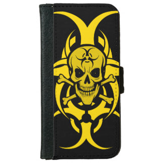 Grinning Skull Iphone Wallet Cover