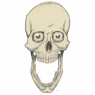 Grinning Skull Photo Cutout