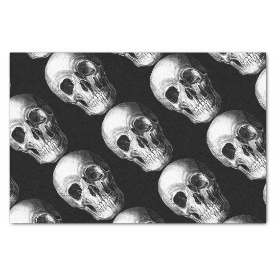 Grinning Skull Tissue Paper Black
