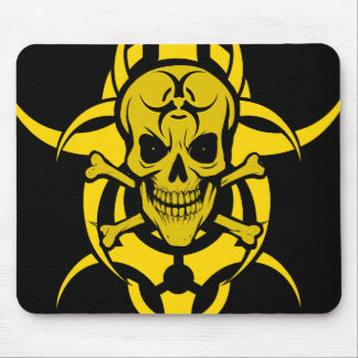 Grinning Skull Tribal Mouse Pad